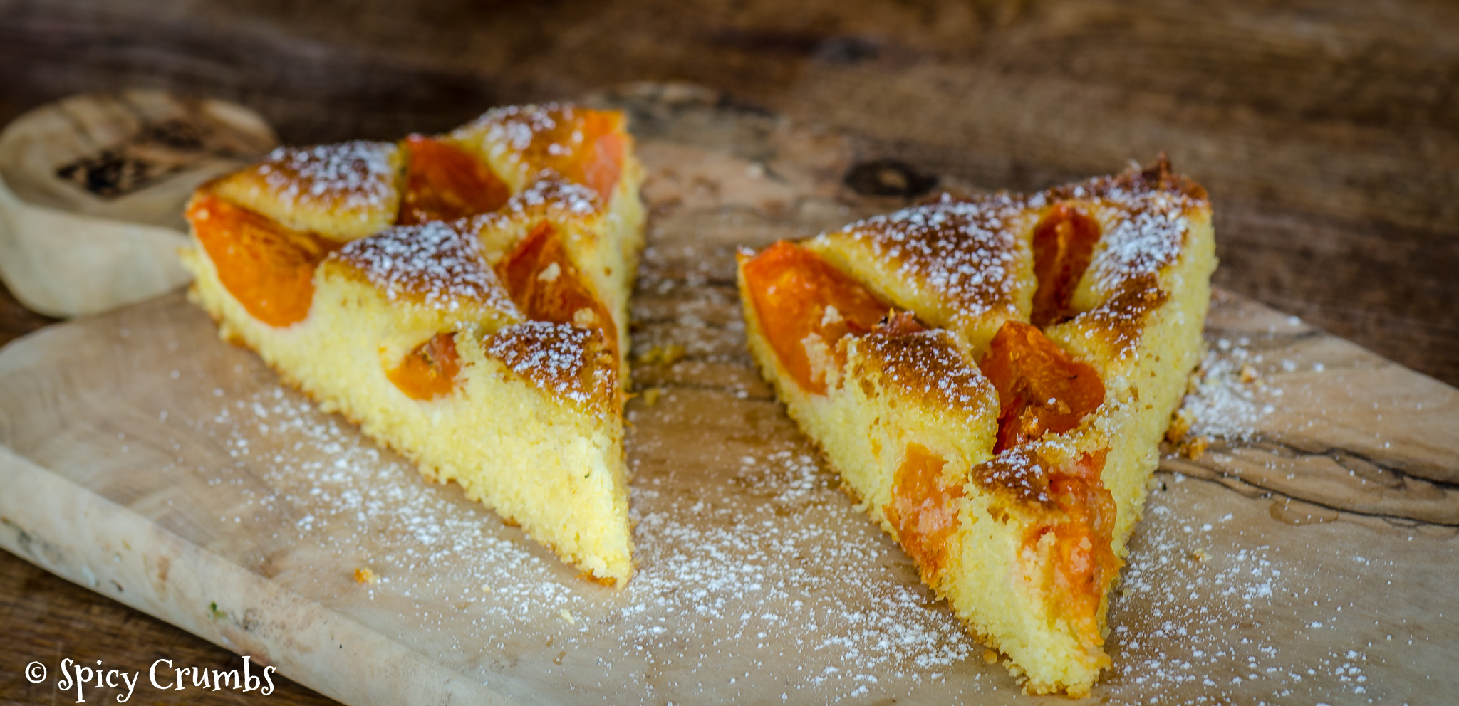 Meruňkový koláč zpolenty