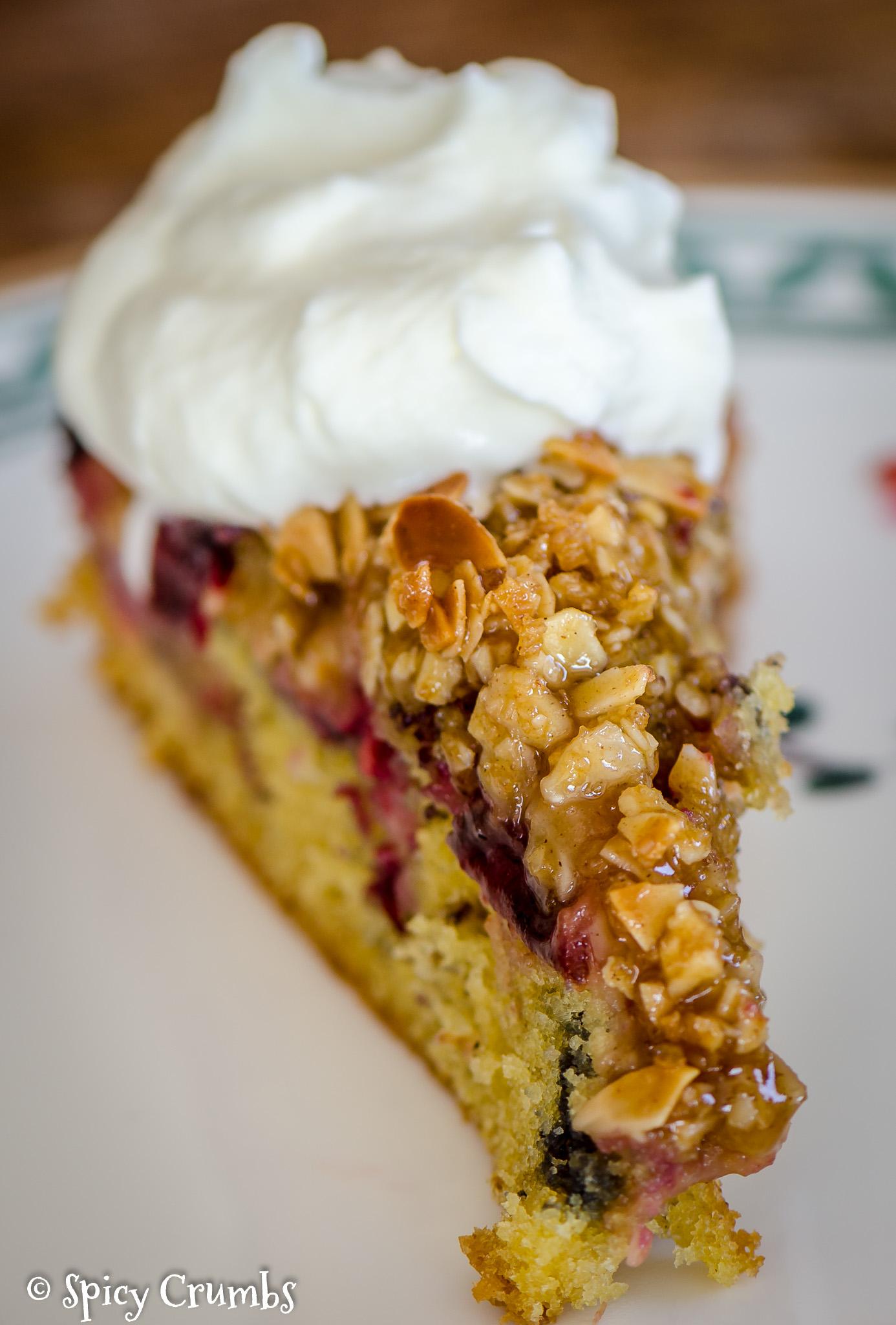 kořeněný švestkový koláč