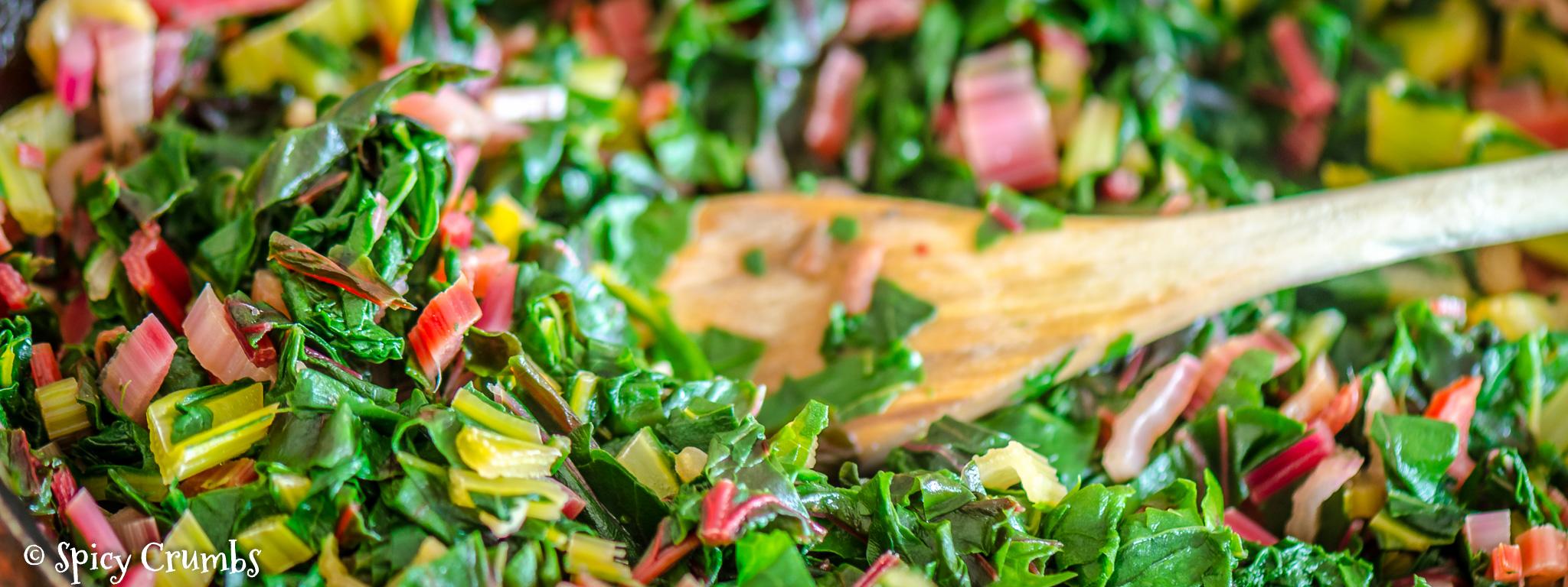 zapečené brambory s mangoldem a rybou