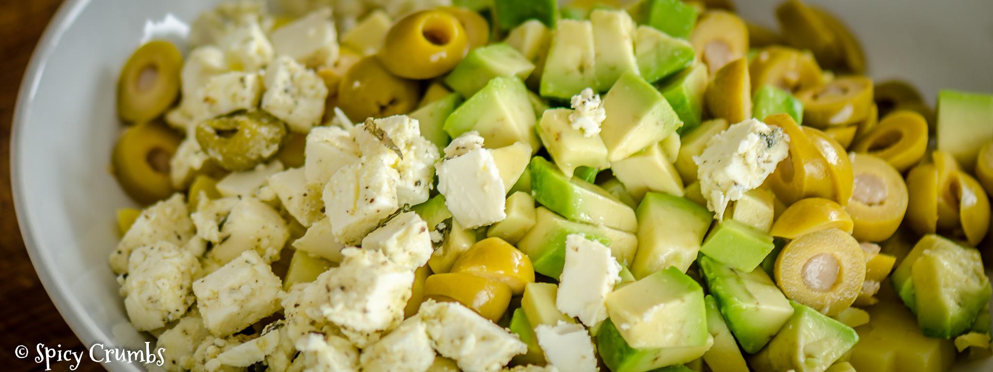 bramborový salát s avokádem
