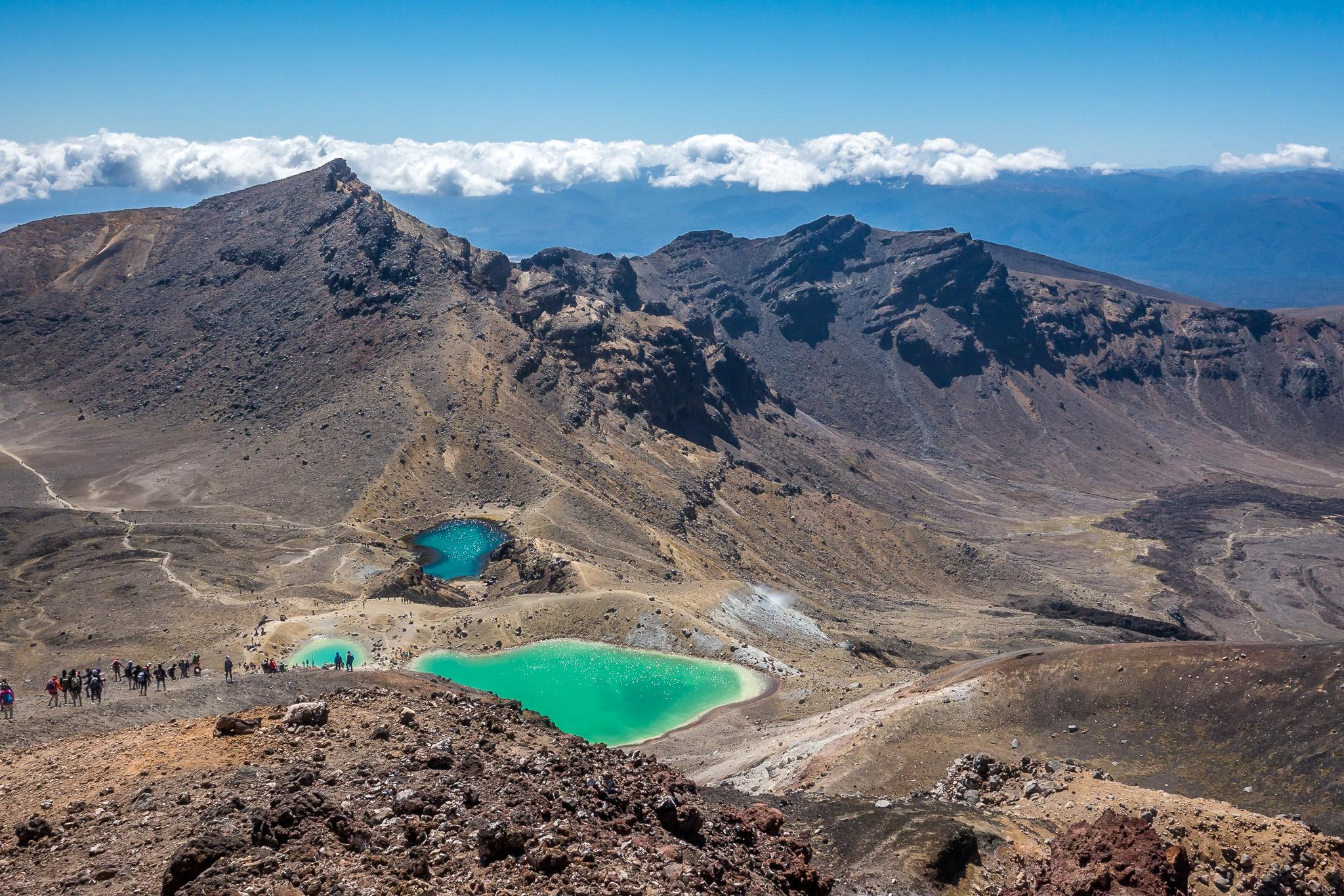 Emerald Lakes, Tonragiro Alpine crossing, Severní ostrov